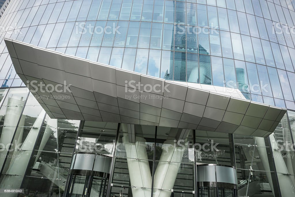 Modern Office Building Canopy Stock Photo Download Image Now Istock