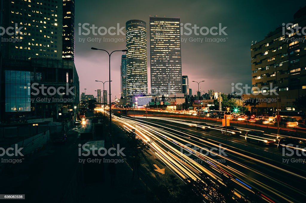 Modern office building cityscape skyline panoramic aerial view stock photo