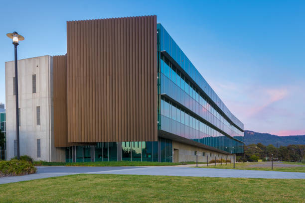 Modern office building. Commercial real estate. stock photo