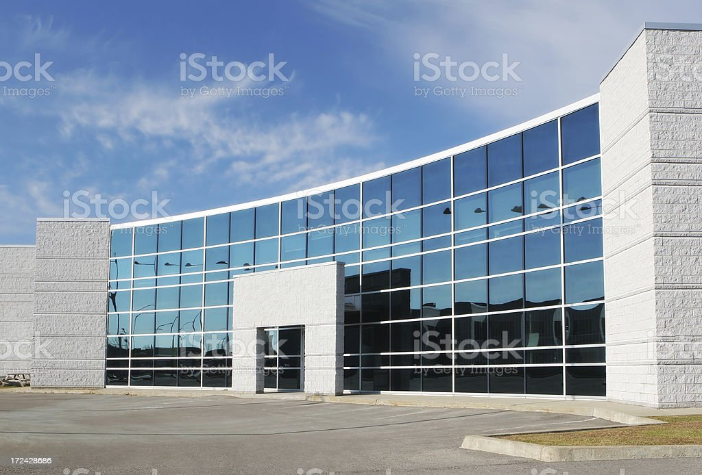 Modern Office Building Entrance stock photo