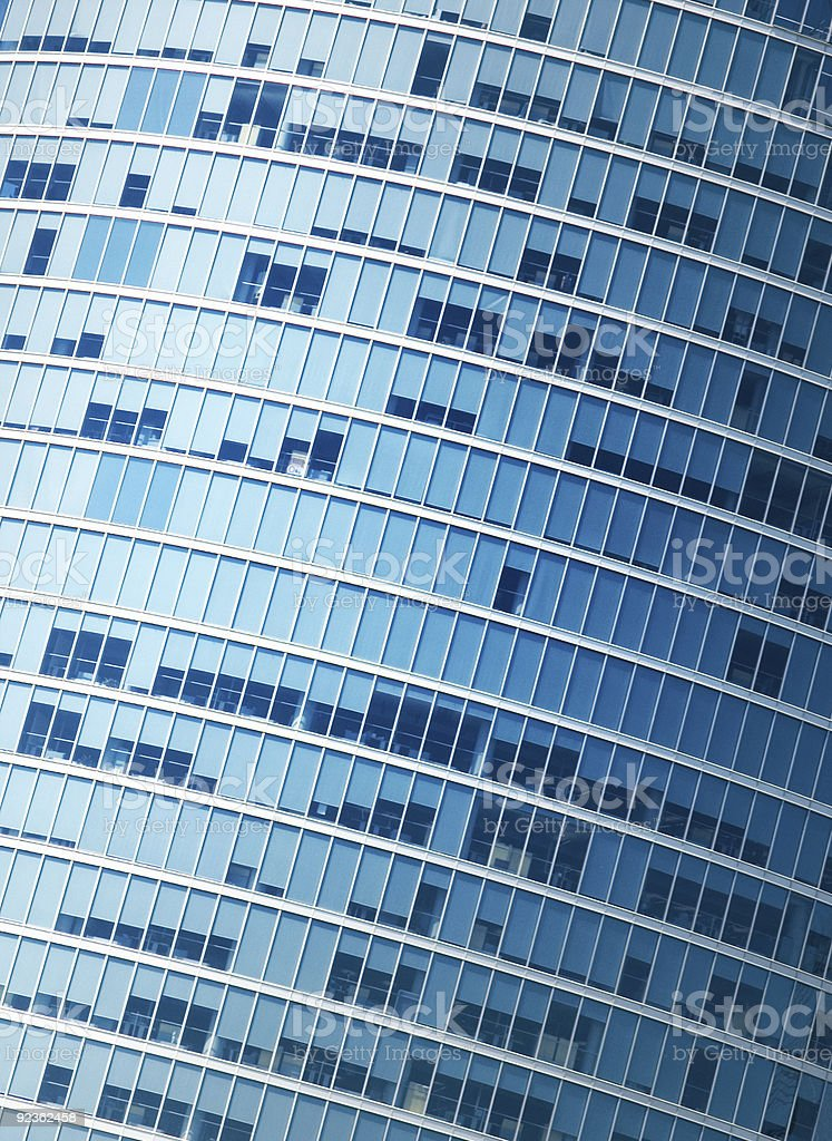 Modern office building fragment royalty-free stock photo