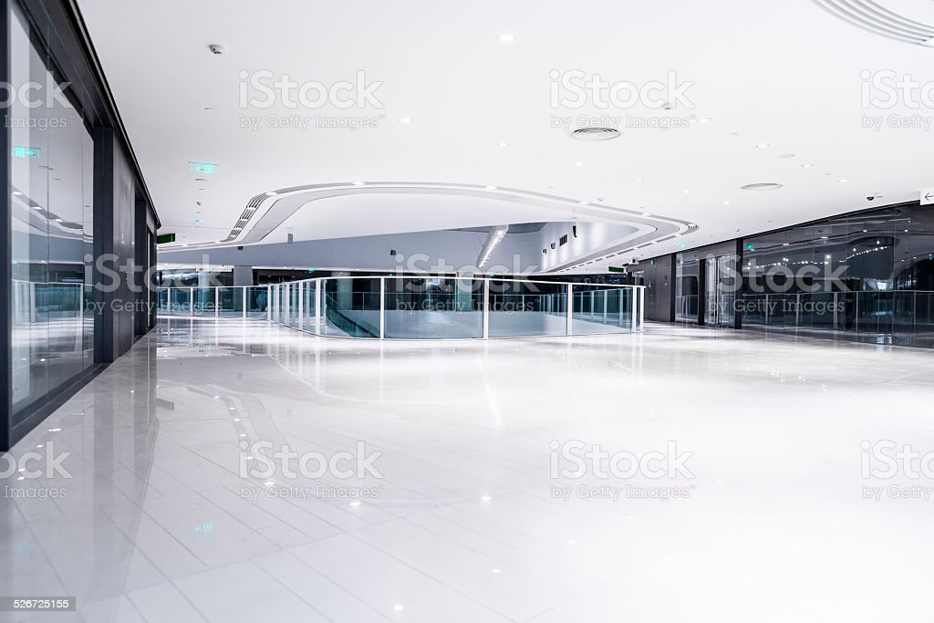 modern office building hallway stock photo