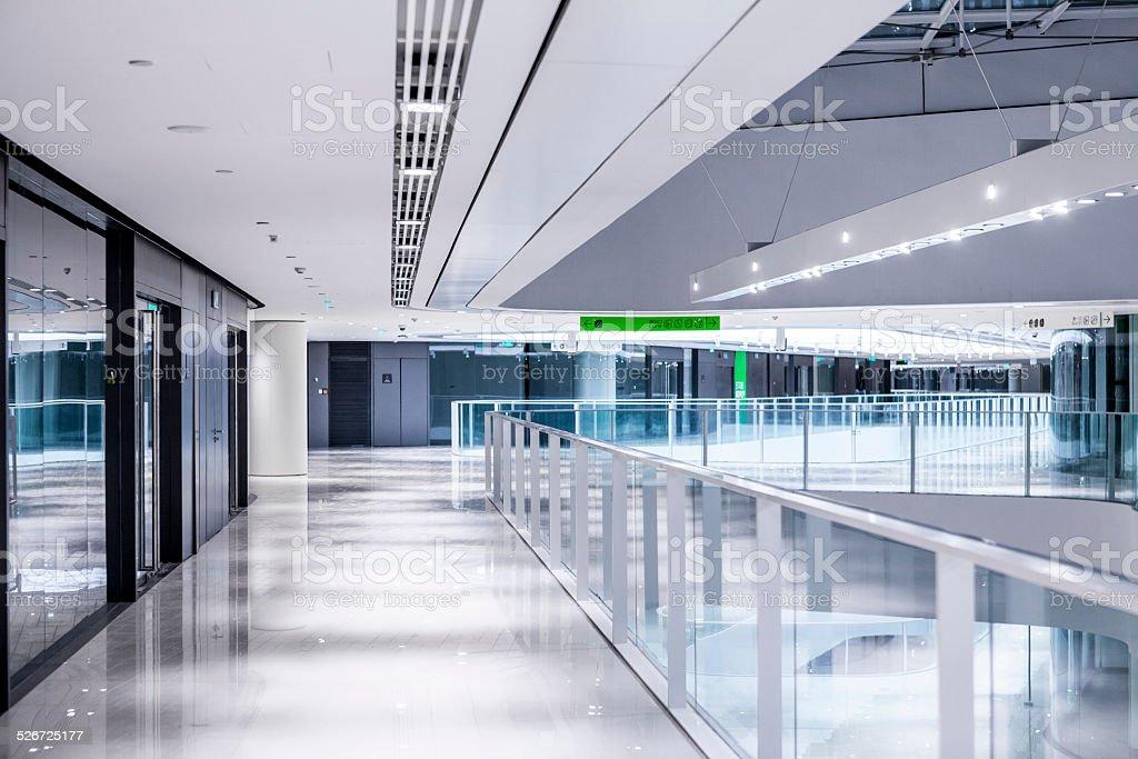 hallway office. Modern Office Building Hallway Royalty-free Stock Photo