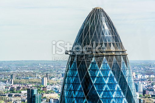 London - England, Building Exterior, Office Building Exterior, City, Sir Norman Foster Building