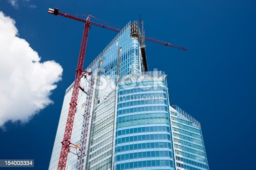 istock Modern Office Building in Construction, Paris, France 154003334