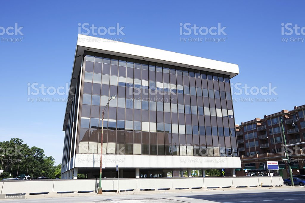 Modern Office Building in Forest Glen, Chicago royalty-free stock photo