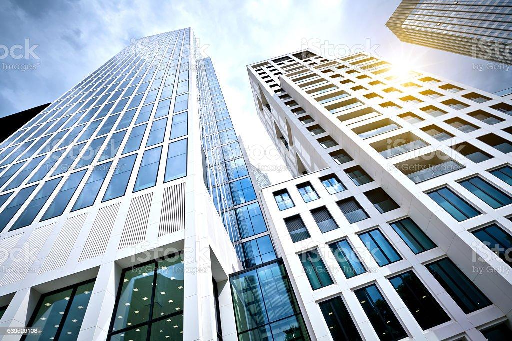 Moderno edificio de oficinas en Francfort, Alemania foto de stock libre de derechos