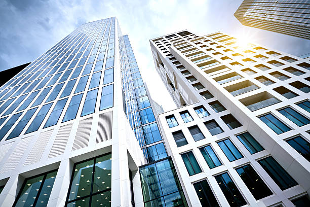 Modern office Building in Frankfurt, Germany stock photo