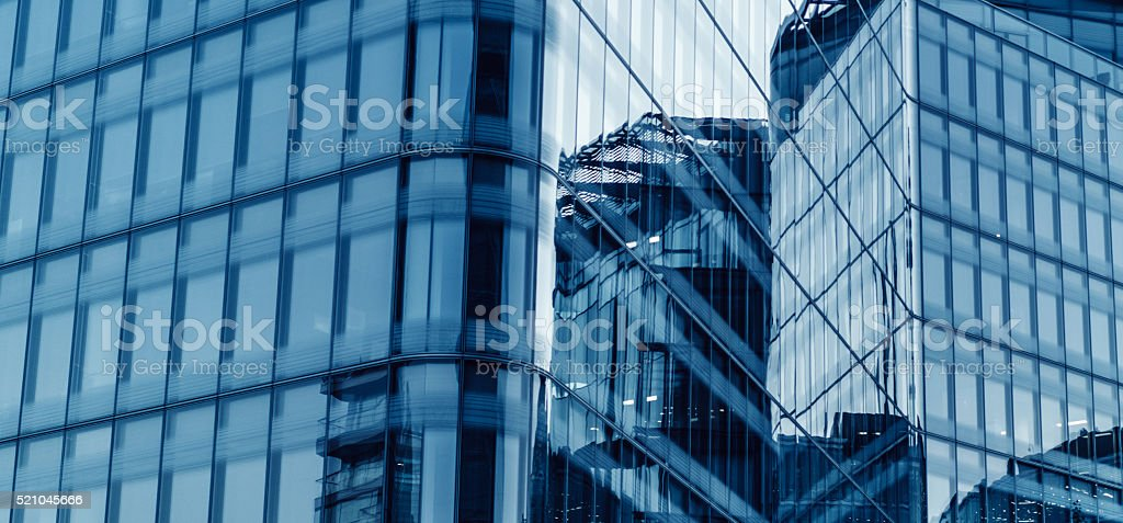 Modern office building in London, UK stock photo