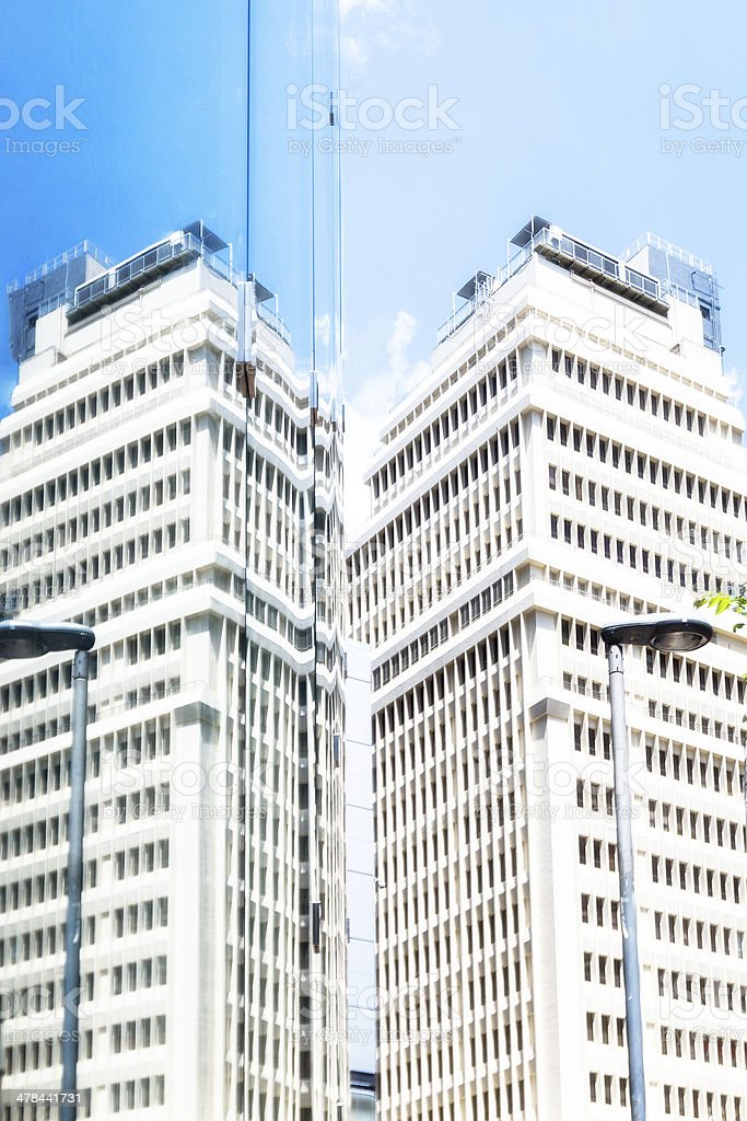 Modern Office Building in Mirror royalty-free stock photo