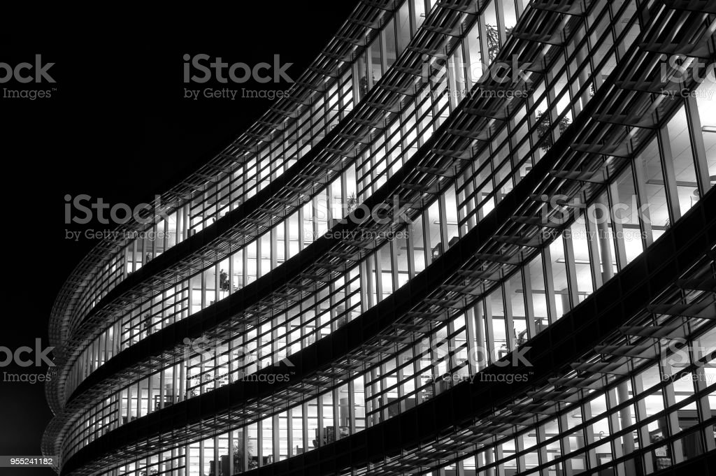 Modern office building in Pittsburgh stock photo