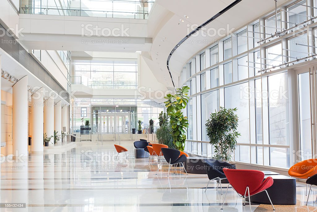 Delightful Modern Office Building  Lobby Royalty Free Stock Photo