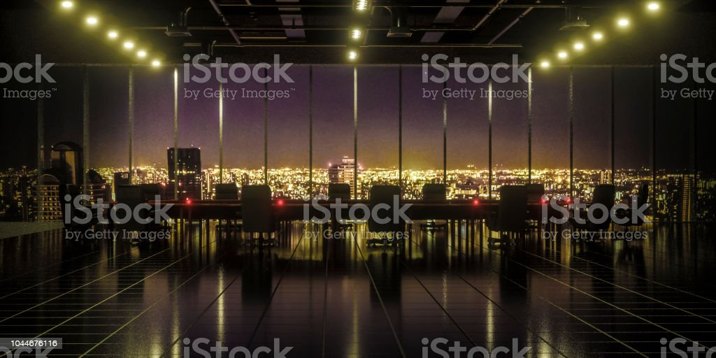 Modern office building meeting room stock photo