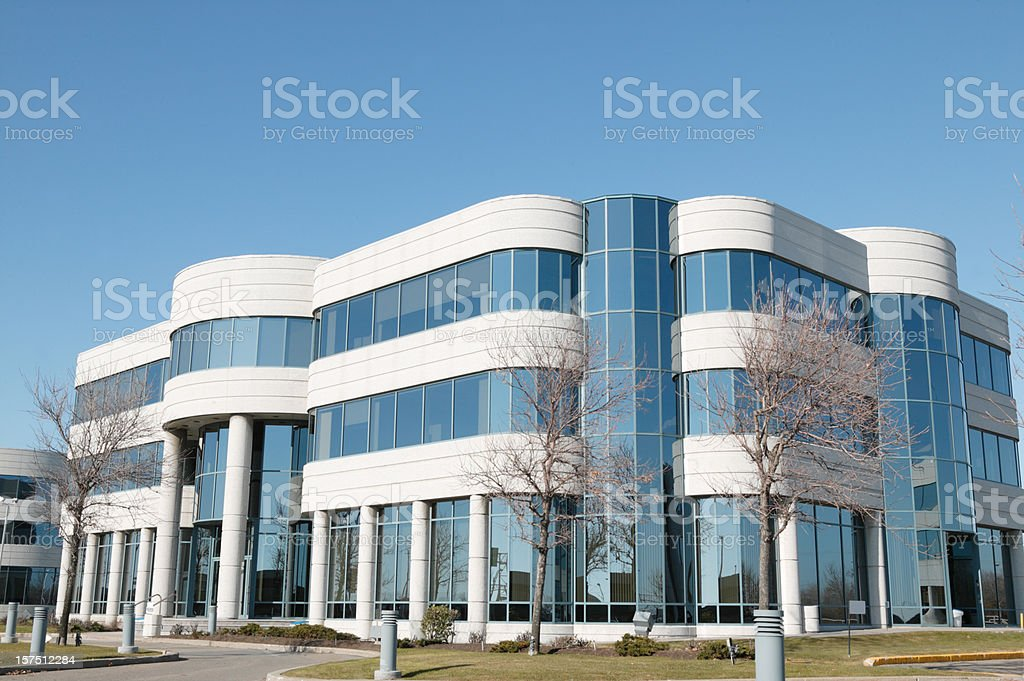 Modern office building, modern architecture stock photo