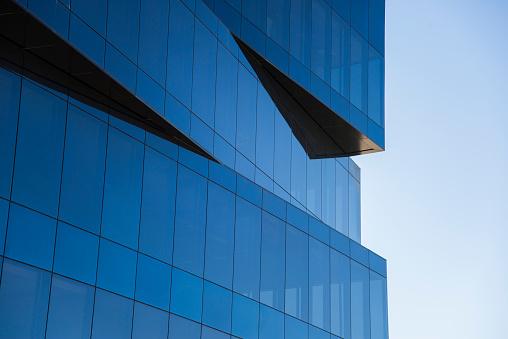 A modern office building detail