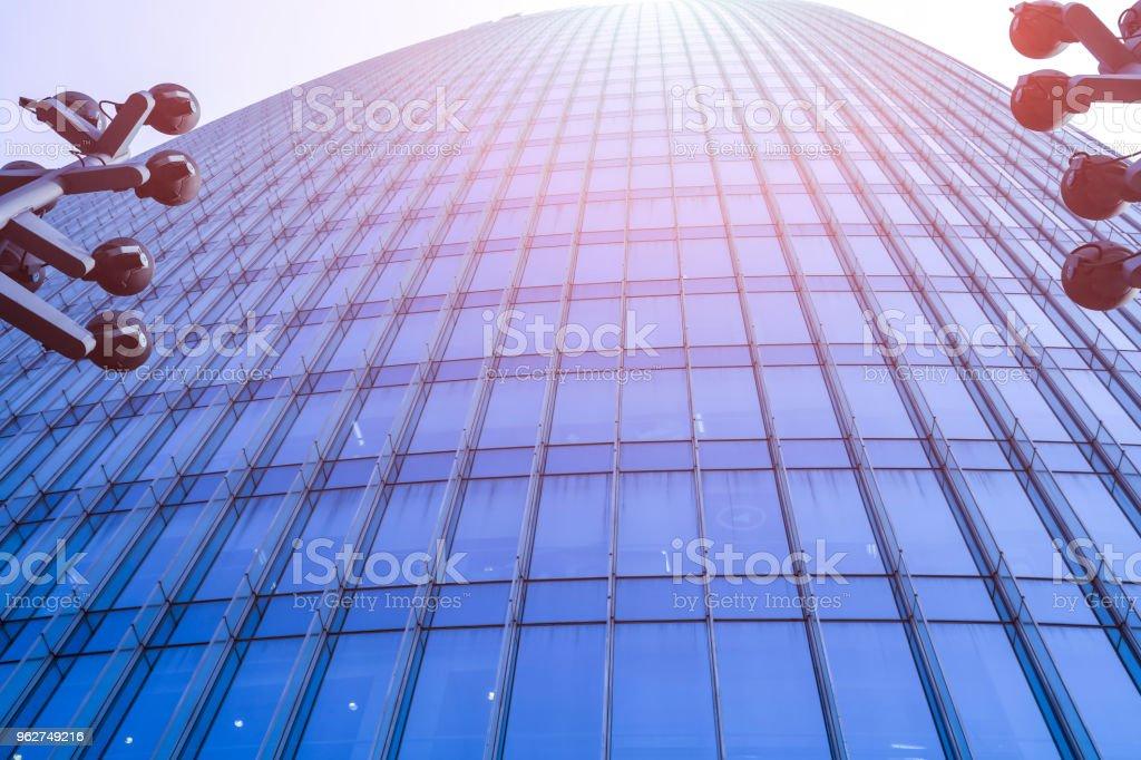 Modern office building - Foto stock royalty-free di Acciaio