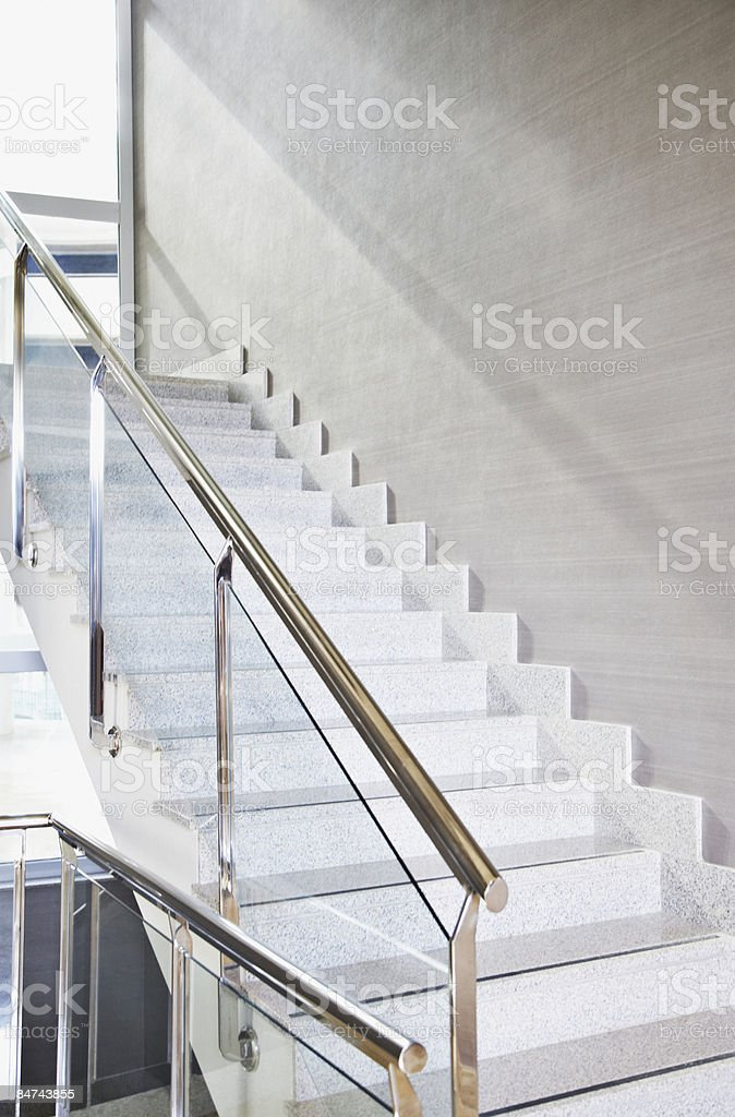 Modern office building staircase royalty-free stock photo