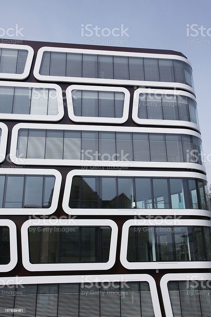 Modern office building vertical format royalty-free stock photo