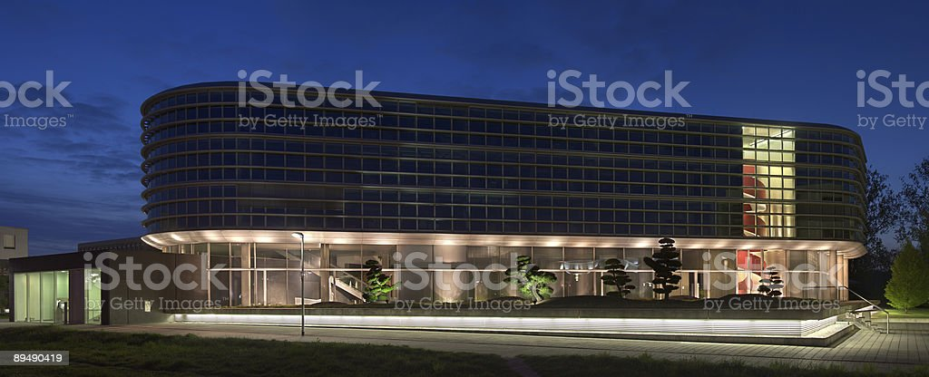 Modern Office Building With Garden royalty-free stock photo