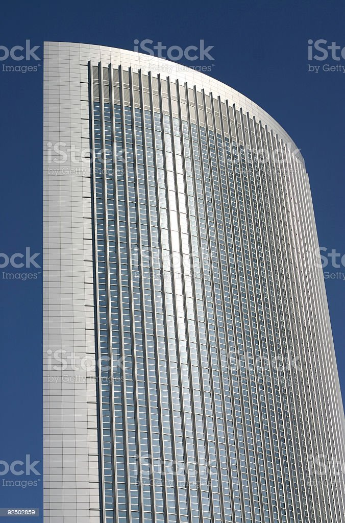 Modern office building with reflecting front royalty-free stock photo