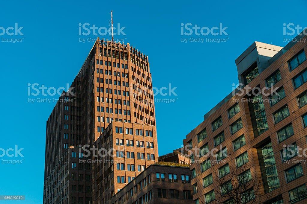 modern office buildings and skyscraper at Potsdamer platz stock photo