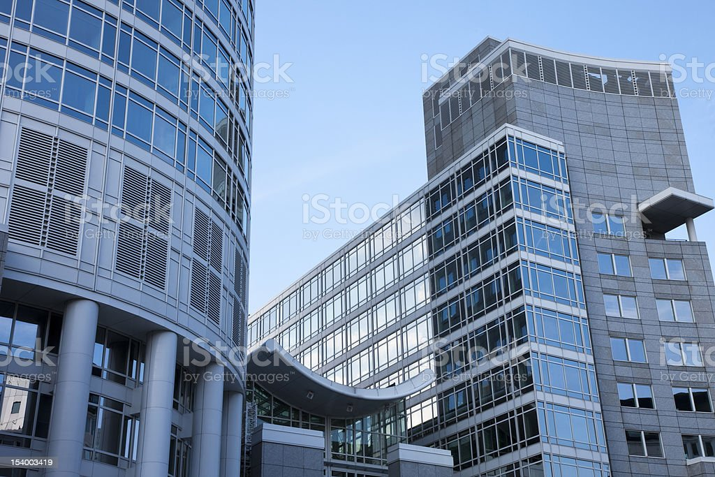 Modern Office Buildings in Frankfurt am Main, Germany royalty-free stock photo