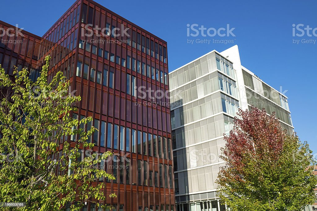 Modern office buildings in Hamburg royalty-free stock photo