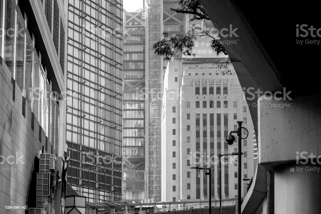 Modern Office Buildings In Hong Kong With Black White Color Stock Photo Download Image Now Istock