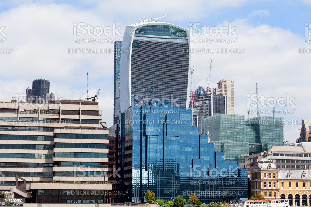 Modern office buildings in London, central business district, City of London, London, United Kingdom stock photo