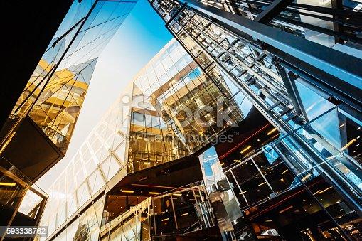 istock Modern office buildings in London, UK 593338762