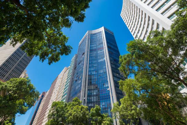 Modern Office Buildings in Rio de Janeiro City Downtown stock photo