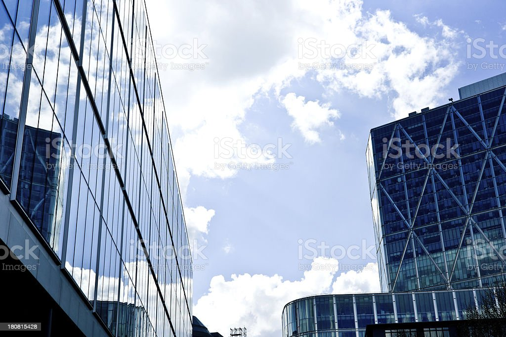 Modern Office Buildings in Sunny London Afternoon stock photo