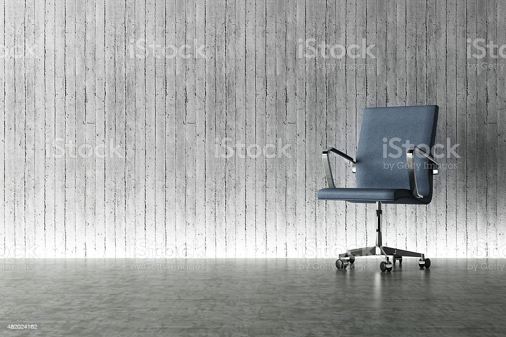 modern office chair and light effect decorated