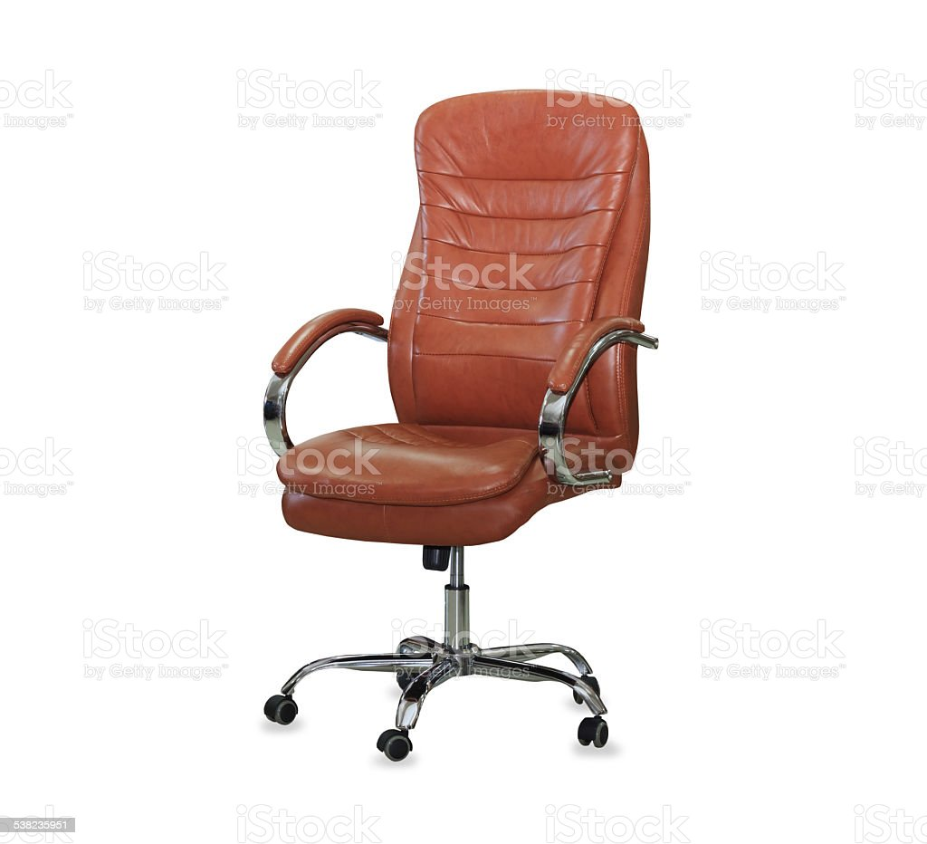 Picture of: Modern Office Chair From Orange Leather Isolated Stock Photo Download Image Now Istock