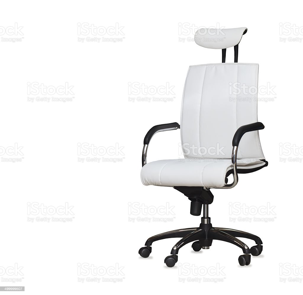 Modern Office Chair From White Leather Isolated Stock Photo Download Image Now Istock
