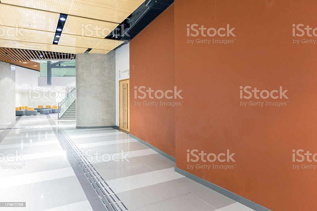 Modern Office Corridor/Lobby stock photo