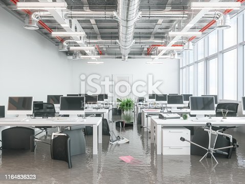 Modern Office Flooded