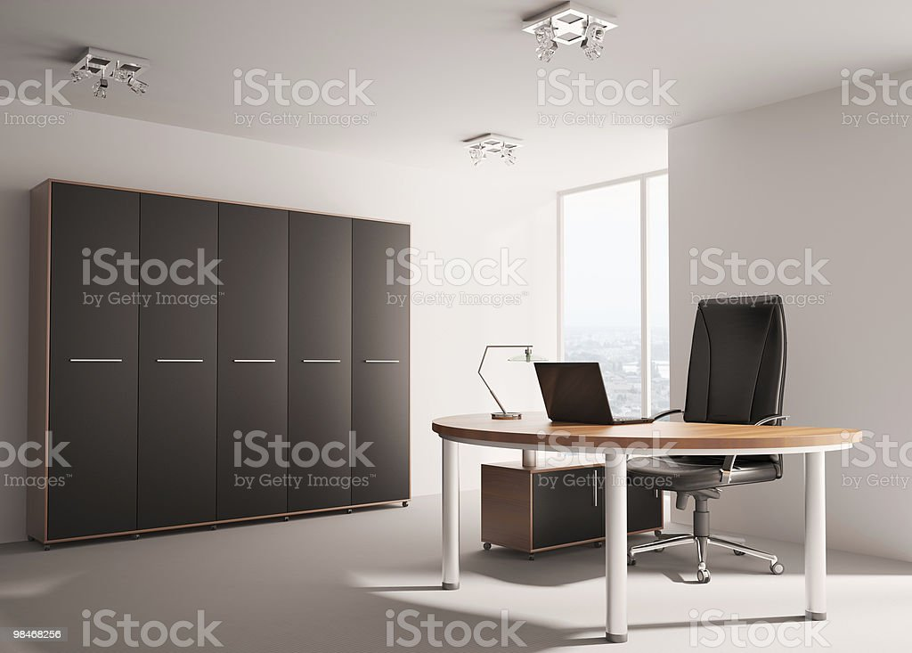 Modern office interior 3d royalty-free stock photo