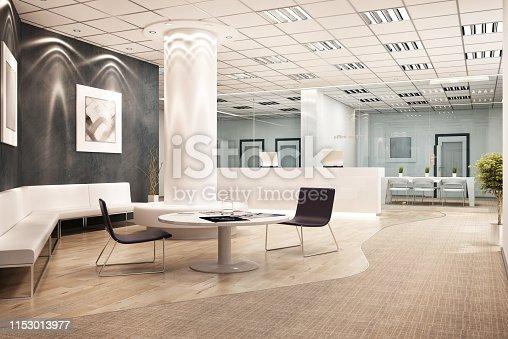 istock Modern office interior design 1153013977