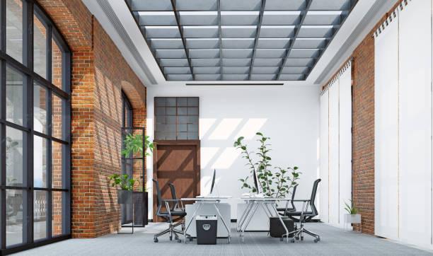 Modern  office interior design stock photo