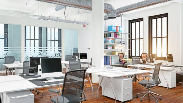 Diseño interior de oficina moderno - foto de stock