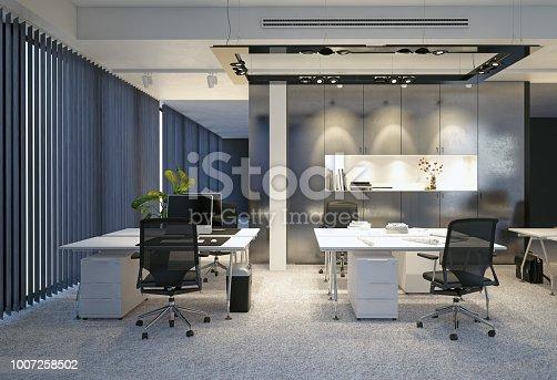 istock modern office interior. 1007258502