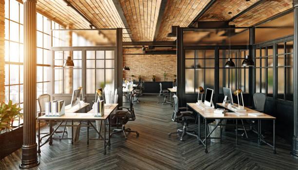 モダンなオフィスのインテリア - オフィス ストックフォトと画像