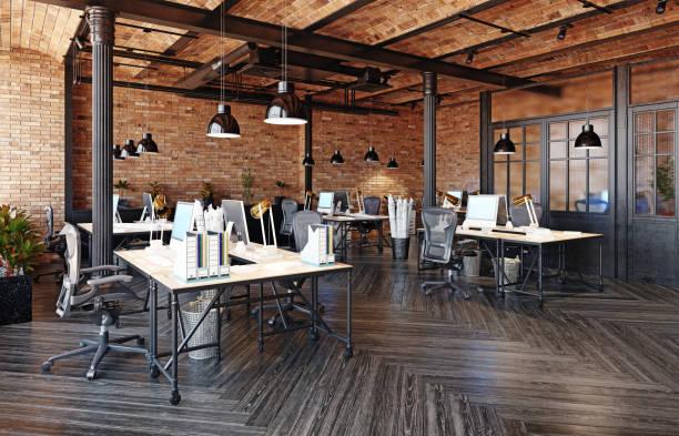 moderne büroeinrichtung - raumteiler weiß stock-fotos und bilder
