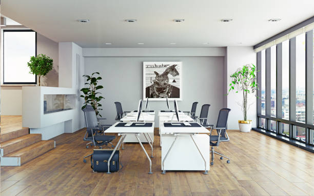 interior de la oficina moderna. - foto de stock