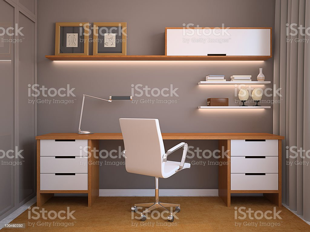 Modern office interior. royalty-free stock photo