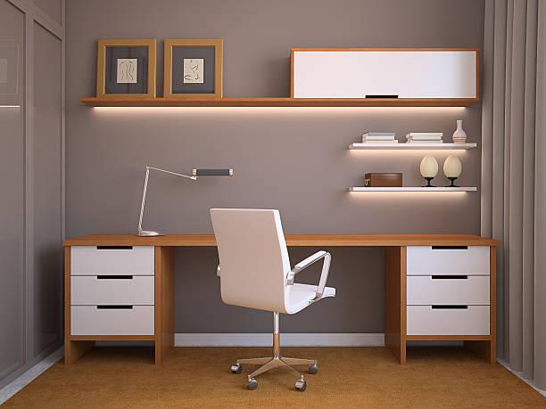 moderne büro. - arbeitszimmer möbel stock-fotos und bilder