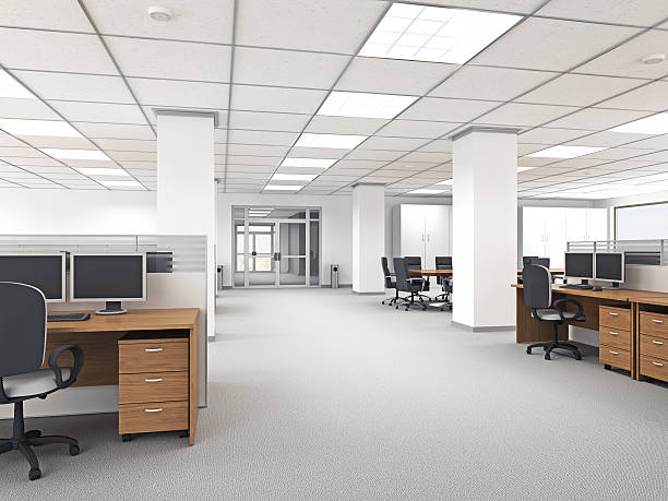 modern office interior - office cubicle stock pictures, royalty-free photos & images