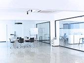 Modern office interior. Nobody.
