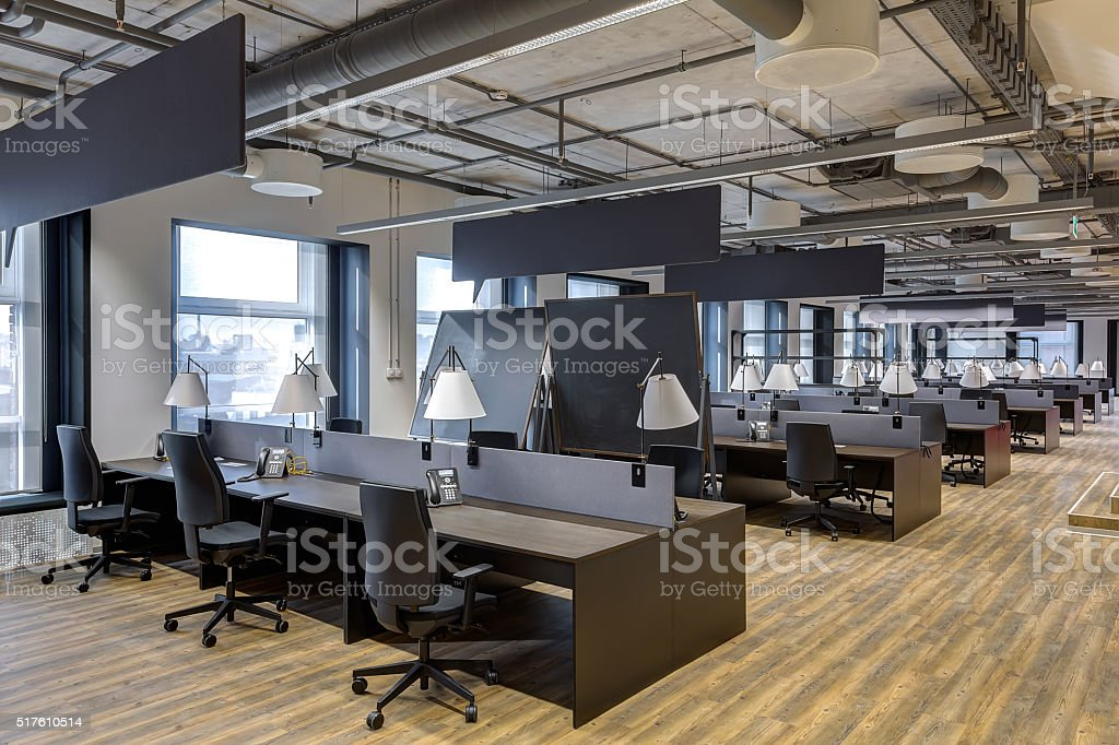 modern office interior stock photo